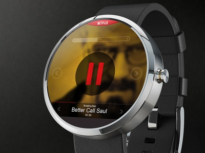Netflix on Moto 360 remote show tv breaking bad motorola app smartwatch moto360 watch netflix