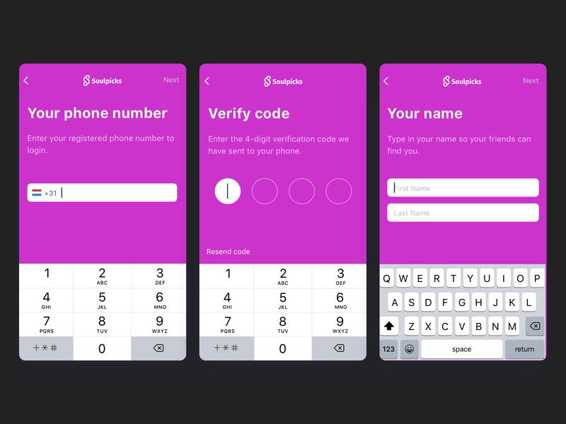 Signup Mobile pink signup form login mobile code pin signup