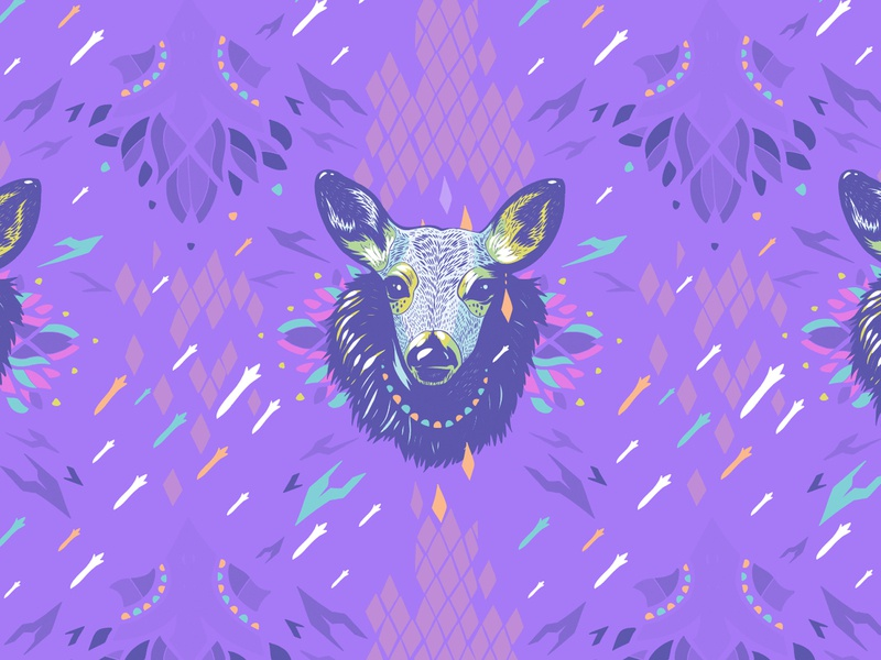 Pattern Design pattern design deer animals textile design surface design ipad pro adobe illustrator illustration artwork apoka edouard artus patterns pattern