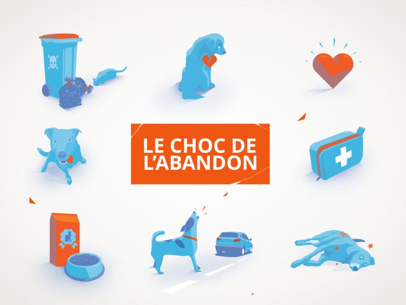 Website Illustrations orange blue animal rights animals ipad pro adobe illustrator apoka artwork edouard artus illustration