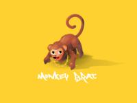 Monkey Illustration Edouard Artus