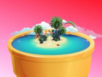 Life on a cone - Island