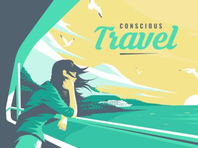 Travel illustration - Edouard Artus
