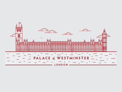 Palace Of Westminster house of commons abbey church clock big ben line art illustration london politics palace of westminster houses of parliament parliament