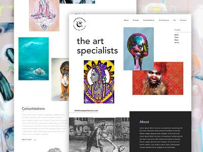 Composition Arts Homepage avenir fluid uk ui web artists prints art supplier gallery illustration arts homepage