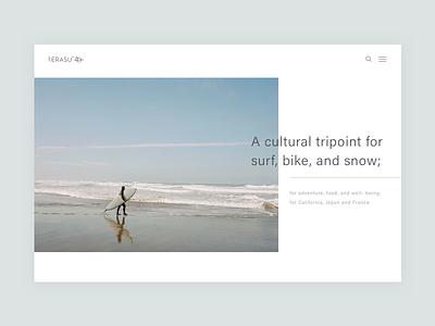 Minimal Web Header sketch california website blog magazine lifestyle surf ui banner web header minimal