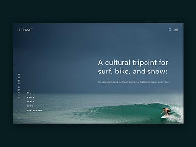 Website Header sketch web ui homepage banner ecommerce store magazine lifestyle waves surf