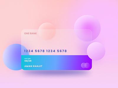 Glassmorphic Card design figma atm card ux graphic design ui