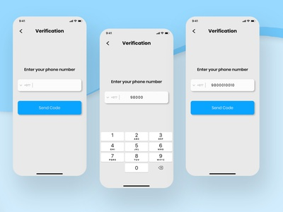 Verification UI Design product design app interface mockup uiux verification page ios interface app graphic design figma ux ui design