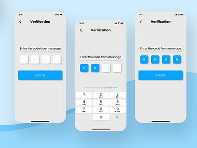 Verification UI Design Part 2 verification page uiux app interface design ios interface app graphic design figma ux ui design