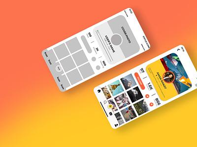 Profile Page UI Design uiux app ui ux photoshop dailyui app interface graphic design figma ux design ui