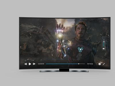 TV Player UI ui nepal uiuxnepal nepali designer nepal dailyui interface figma design ux ui