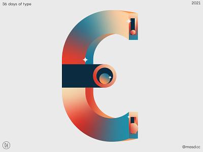 36DaysofType E circles motion graphics. design illustration flat letters animation colours motion design 2d