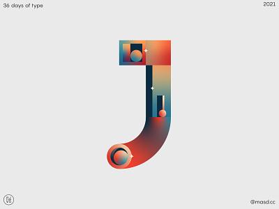 36DaysofType J typography logo ui illustration letters flat colours motion design 2d