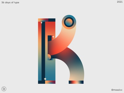 36DaysofType K branding typography after effects illustration letters flat colours motion design 2d