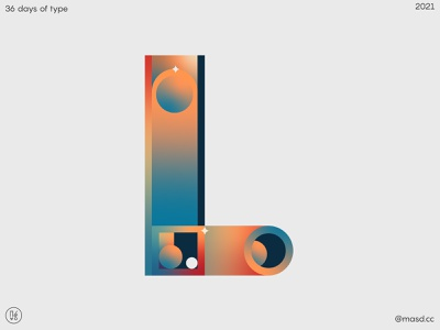 letter L for 36 days of type illustration icon branding flat typography letters vector logo design 2d 36daysoftype