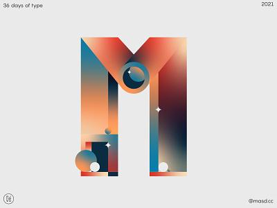 36DaysofType M colours typography vector branding illustration letters flat motion design 2d