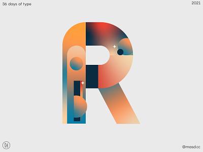 36 Days of Type R branding motion graphics. design illustration animation letters flat colours motion design 2d