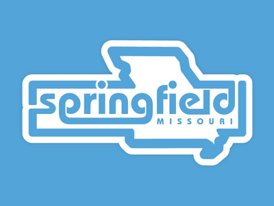 Badge For Springfield MO ozarks state city fonts blue lettering type logo patch badge missouri springfield