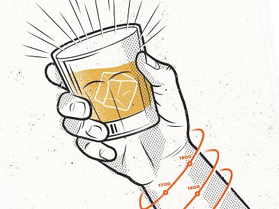 Hear Hear toast glass hand timeline illustration