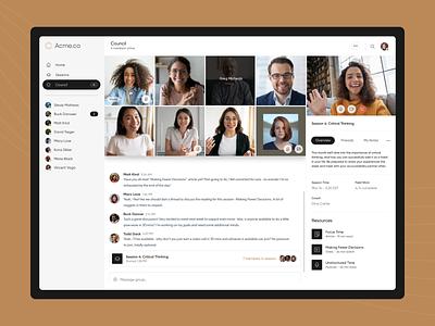 Group Coaching mantra login goals personal growth groups virtual video meeting ui coaching