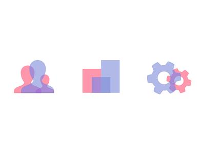Overlay Icon Style icon style branding brand blend blending overlay overlap opacity icons
