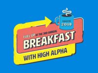 High Alpha SaaStr Breakfast Brand