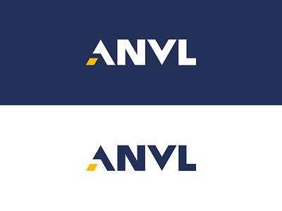 Logo for Anvl clean modern logo 3d startup branding technology safety startup portfolio company