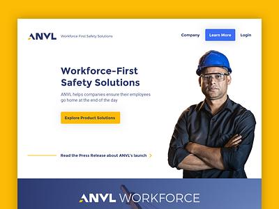 Anvl Website modern safety industrial technology website