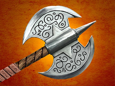Great Axe of the Dreaming Woods weapon fighting adventure gamebook fantasy woods dreaming axe great