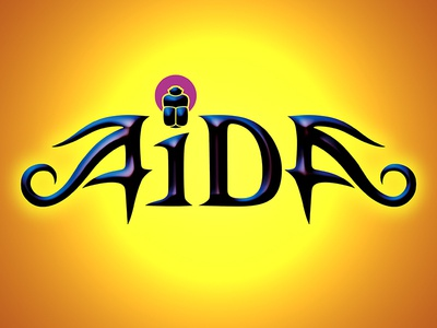 Aida theatre hand lettering typography musical