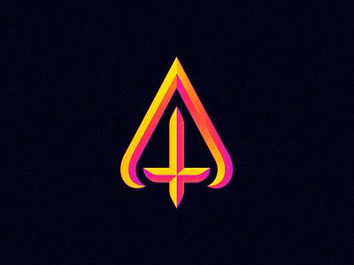 Atheism mark religion atheism a illustration typography brand logotype letter symbol monogram logo