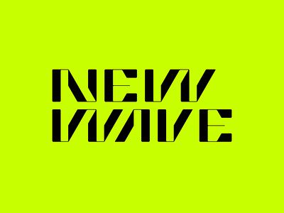 NewWave wave typography mase logotype letter symbol monogram logo