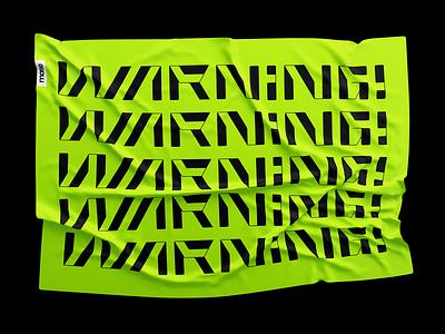Warning typography art fonface type font lettering calligraphy warning cyberpunk cyber typogaphy illustration logotype letter monogram symbol logo