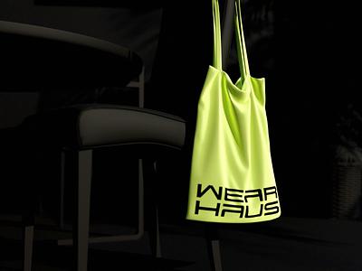 WearHaus Bag 👀 identity bag digital h w wh wordmark blender mase symbol monogram letter logotype branding logo motion graphics graphic design 3d animation