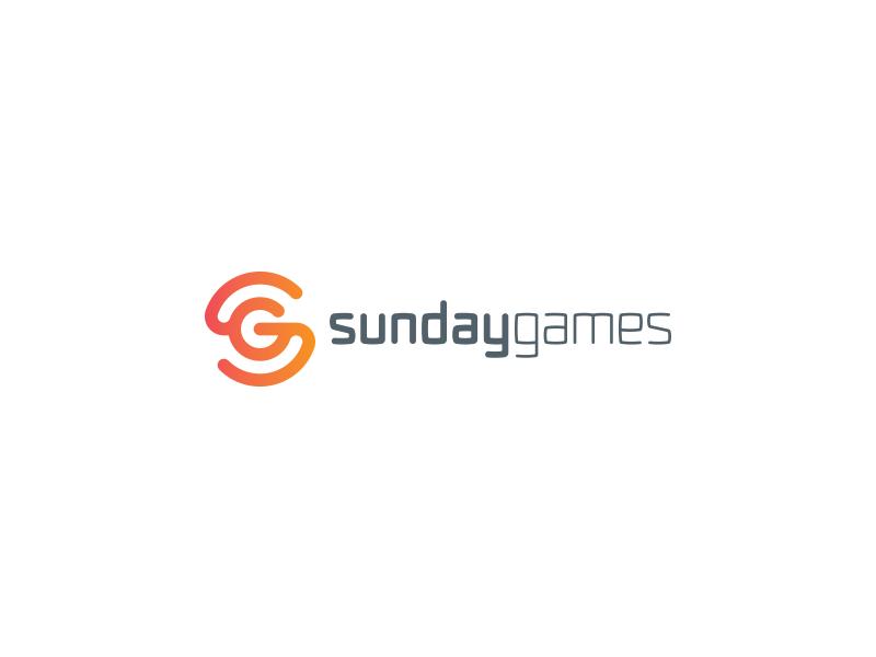 SundayGames sun studio sg s monogram media logotype logo games g brand