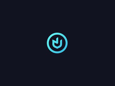 NV monogram symbol round circle letter n v identify brand inspire creative logo