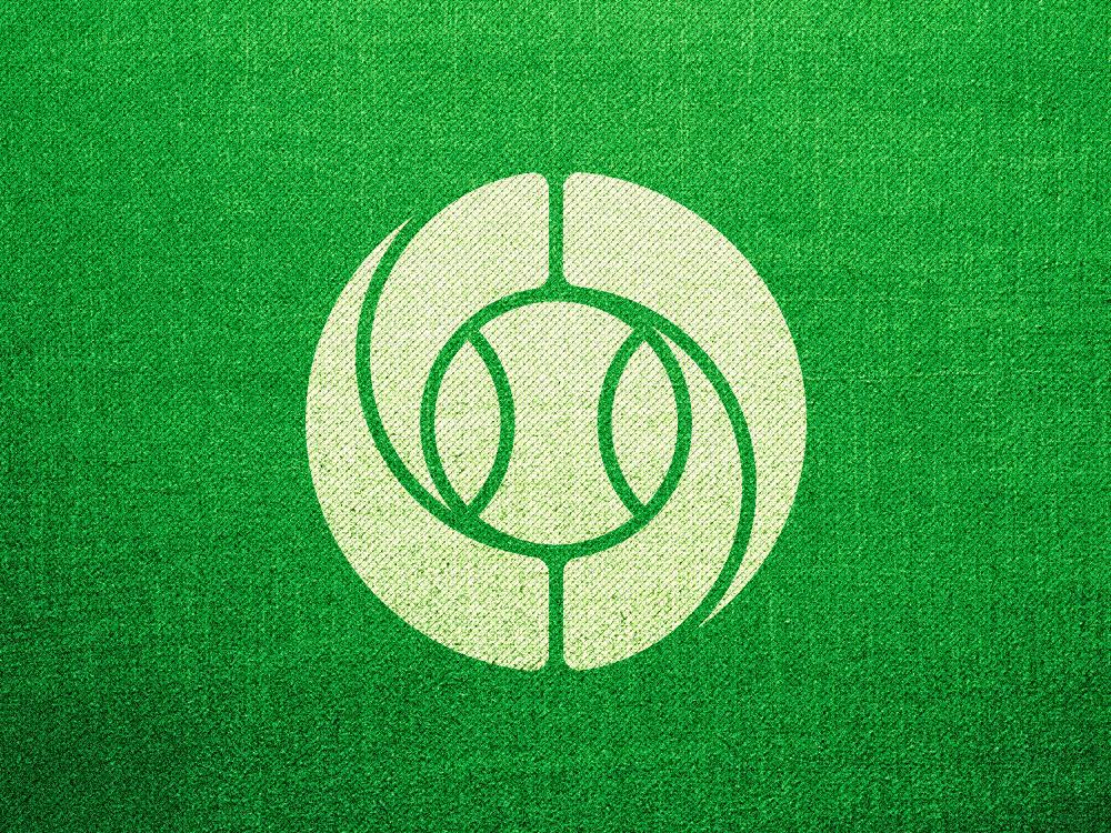 Ball tennis ball o circle emblem mase logotype letter symbol monogram logo