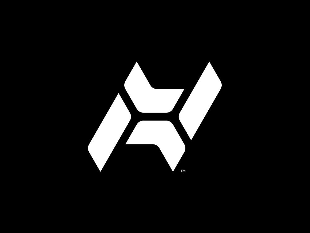 X negativespace negative space x h emblem brand mase logotype letter symbol monogram logo