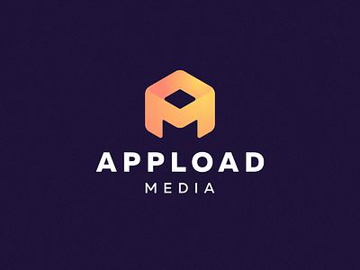 Appload gradient logo gradient icon gradient emblem brand m a am mase illustration logotype letter symbol monogram logo