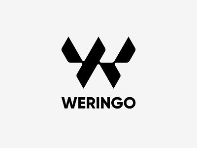 Weringo typography emblem mase brand illustration logotype letter symbol monogram logo