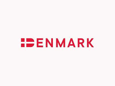 Denmark flag logo country flag denmark branding illustration typography brand mase logotype letter symbol monogram logo