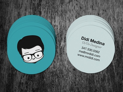 My New Circle Business Cards!! print graphic design circle