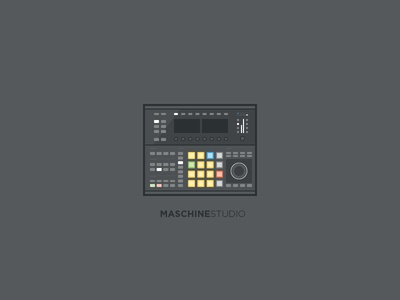 Maschine Studio illustration practice native instruments maschine studio music midi