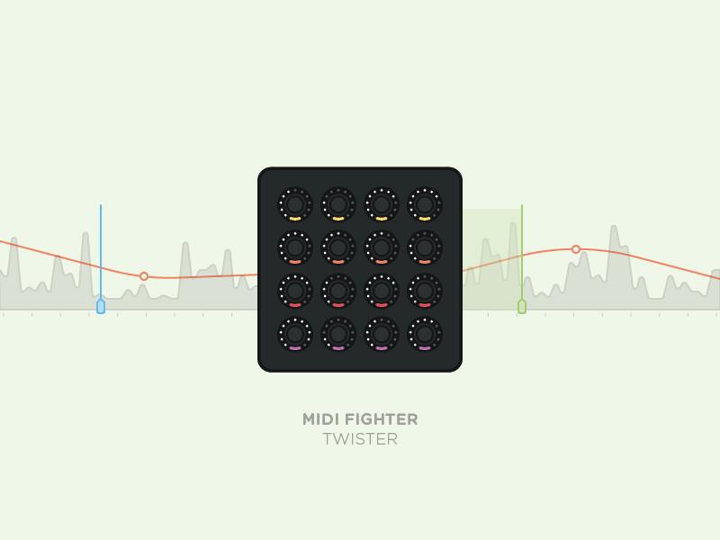 Midi Fighter Twister dj tech tools midi fighter music traktor controller illustration