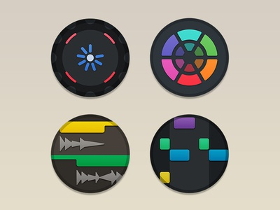 Music Icon Set v2 traktor serato ableton logic maschine mixed in key icons music production beats