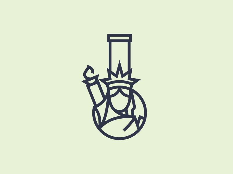 Rips NYC Logomark logo branding illustrator identity weed puff puff pass wiz kalifa shyt bongs nyc