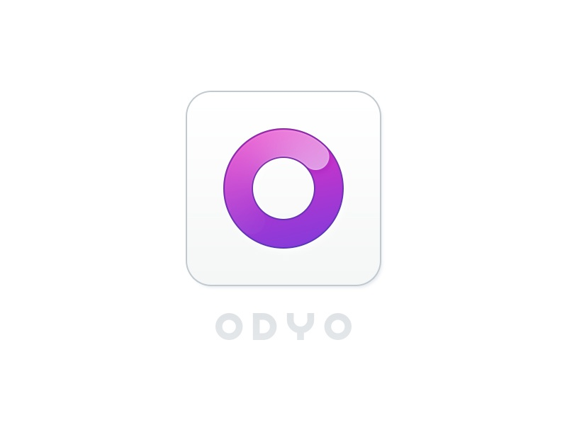 ODYO Logo and App Icon odyo logo branding ios icon app audio sampling music production