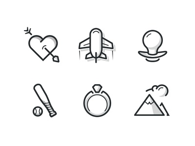Category Page Icons icons ux ui illustration