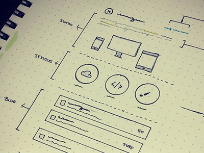 Sketches For Personal Website – Coming Soon! ui ux web design design